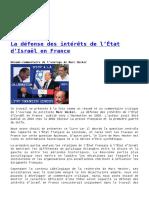 intérêts israeliens en France