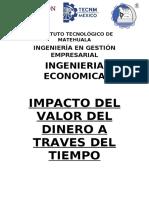 IMPACTO DEL VALOR DEL DINERO A TRAVES DEL TIEMPO