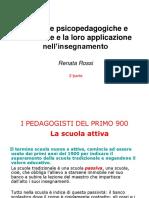 Le principali teorie psico-pedagogiche 900