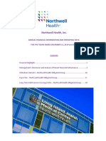 Northwell Management Discussion of 2019 Performance