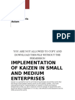 Implementation of Kaizen in SMEs