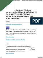Centralized Managed Wireless Network Using Mikrotik CAPsMAN V2