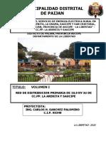 RED PRIMARIA DE 10.0  KV 3F - PAIJAN - SAUCIPE