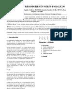 LABORATORIO 7 - CIRCUITO DE RESISTORES EN SERIE-PARALELO
