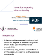 3 - Techniques for Improving Software Quality