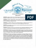Declaration of Emergency Directive 017