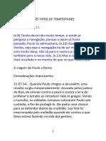 TRÊS TIPOS DE TEMPESTADES