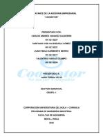 PRIMER AVANCE DE LA ASESORIA EMPRESARIAL