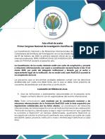 1.Acta Primer Congreso Nacional de Investigación Científica de ISAE -PANAMÁ