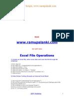 QTP Excel Sheet Operations