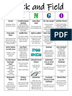 field day bingo