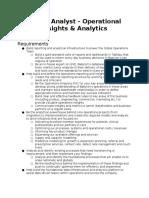 SPEC Babylon Senior Analyst Operations Insights &  Analytics