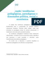 aula_1 - Educação- tendências pedagógicas, paradigmas e dimensões política, social e econômic