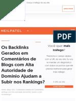 Os Backlinks Gerados em Comentários de Blogs com Alta Autoridade de Domínio Ajudam a Subir nos Ranki