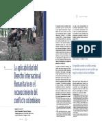 Aplicabilidad DIH en el reconocimiento del conflicto colombiano