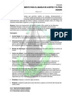 Procedimiento Aceites y Filtros Usados