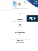 Proyecto de vida - Unidad 2 Fase 3- Oscar Lanchero- Trabajo Individual
