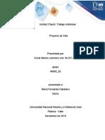 Proyecto de vida - Unidad 2 Fase 3- Oscar Lanchero