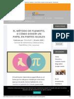 El método de Fujimoto, o cómo dividir un papel en partes iguales - Gaussianos