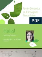 family dynamics and genogram presentation