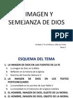 Tema 7, A imagen y semejanza de Dios