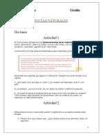 Actividades de Ciencias Naturales para  cuadernillo 3