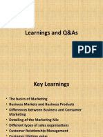 Learnings and Q&As