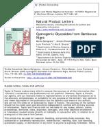 Cyanogenic Glycosides from Sambucus nigra