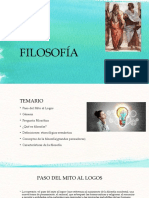 FILOSOFÍA. CLASE 1