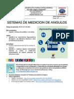 GUIA N°1 MATEMATICA 10° SISTEMAS DE MEDICION DE ANGULOS Y CONVERSIONES