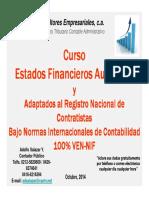 CURSO ESTADOS FINANCIEROS AUDITADOS ADAP RNC 100% VEN NIF 21 y 22 [Modo de compatibilidad] (1)