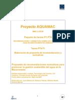 Recomendaciones y normativas para la gestion sostenible del agua en la Macaronesia