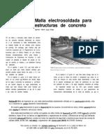 4 Malla electrosoldada para estructuras de concreto