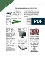 COMPONENTES PRINCIPALES DE LA COMPUTADORA