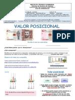 01 TERCERO GUIA DE APRENDIZAJE MATEMATICAS VALOR POSICIONAL