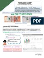 01 CUERTO GUIA DE APRENDIZAJE MATEMATICAS VALOR POSICIONAL