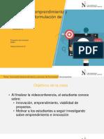 INNOVACIÓN EMPRENDIMIENTO Y PROCESO DE FORMULACIÓN DE PROYECTOS