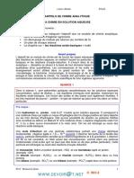 Cours - Chimie La chimie en solutions aqueuses - Bac Technique (2013-2014) Mr bouazizi jilani