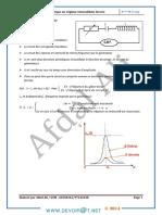 Cours - Physique Oscillation électrique forcée - Bac Math (2013-2014) Mr Afdal Ali