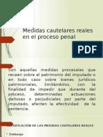 Medidas cautelares reales en el proceso penal diapositivas