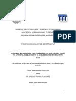Estrategia metodológica para formar sujetos reflexivos, a través del aprendizaje del inglés en el nivel de Educación Secundaria - Felipe Isaac Rivera González