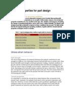 Material Properties for Part Design