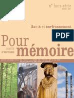 Pour mémoire n° hors série hiver 2017 - Santé et environnement