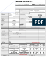 CS Form No. 212 Revised PDS