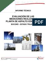 Informe mediciones Planta de Asfalto Edima, C.A. Bocono