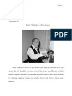 Heitor Villa-Lobos Research Paper