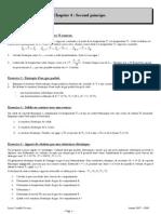 Thermodynamique exercices T4- Second principe