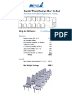13 PAX KA350 Floor Plan Weight Savings