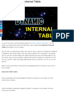 Creating Dynamic Internal Table |
