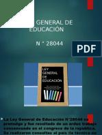 LEY DEL GENERAL DE      EDUCACIÓN   pdf